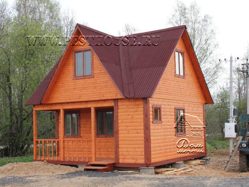 дачный дом из бруса лето