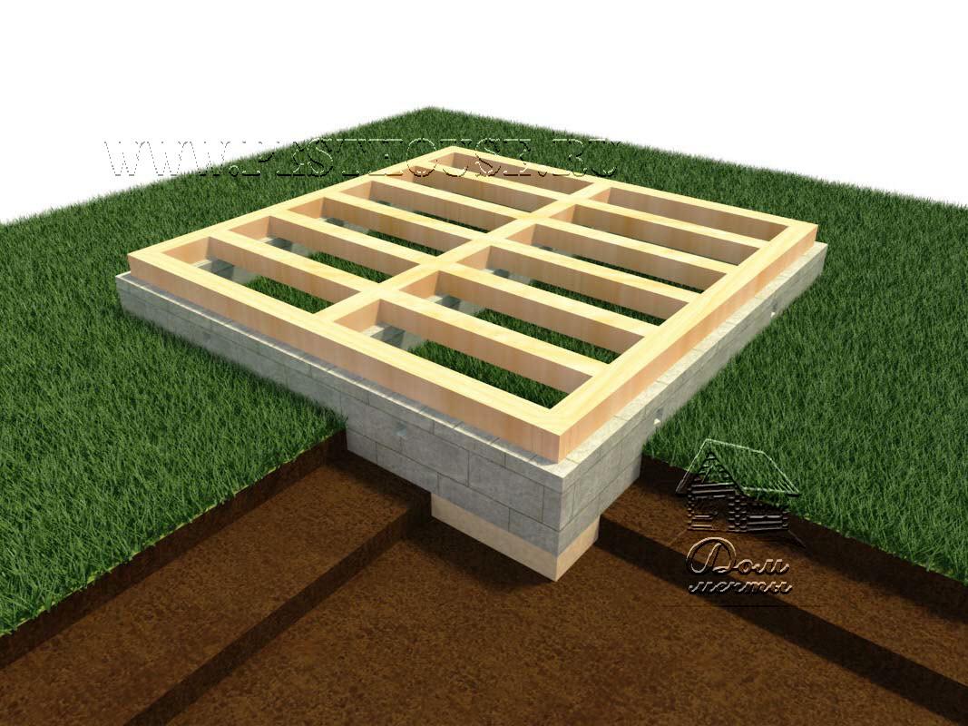 фундамент лента из блоков