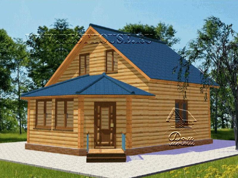 Новый проект дома из бруса Д-44